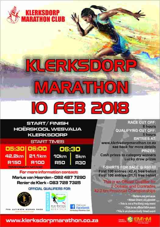 Klerksdorp-Marathon-2018-Front